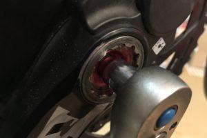 Rotor Kurbel demontieren/montieren workshops tests technik Werkstatt Rennradteile Kurbel