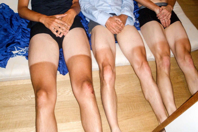 Rasierte Beine auf Frauen