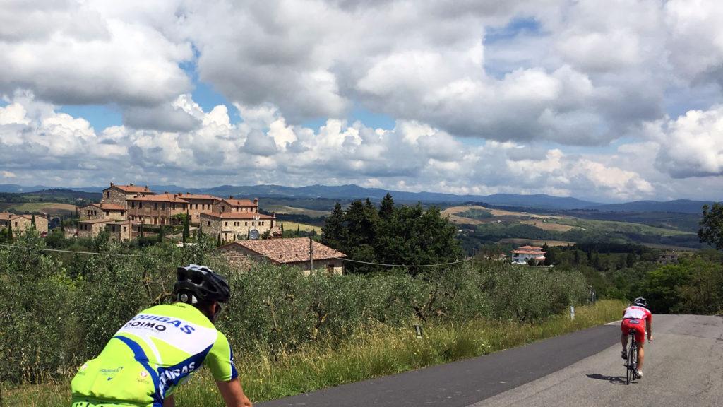 Toskana Traumrunden rund um Siena reviere reisen touren Toskana Rennradrevier Rennradreise Italien