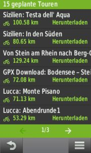 Komoot App   GPX Touren auf den Garmin workshops tests technik Navigation Komoot IOS GPX Garmin App Android